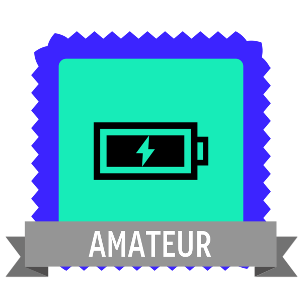 """Badge icon """"Battery (2952)"""" provided by Arjun Mahanti, from The Noun Project under Creative Commons - Attribution (CC BY 3.0)"""